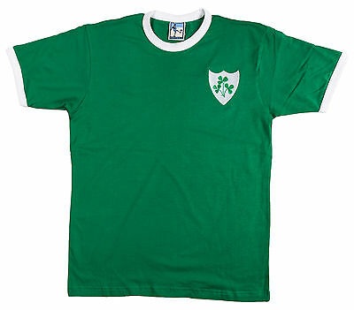 Retro Ireland National Rugby T Shirt Embroidered Logo Sizes S-XXL