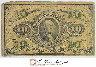 1863 10 Cents 3rd Issue Fractional Currency *343