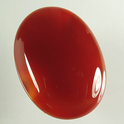 Stunning 47.60 Cts Natural CARNELIAN Gemstone Oval Cabochon 34x24 mm For Pendant