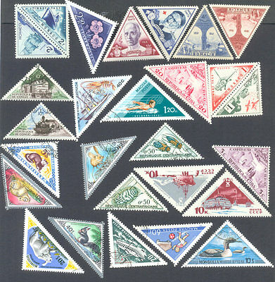 Triangular stamps collection 200 all different -many countries-very unusual