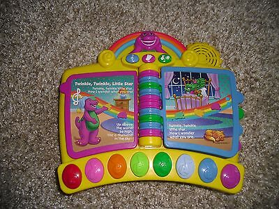 Barney Electronic Interactive Musical Nursery Rhymes Toy Piano Book Mattel 2001
