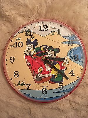 Vintage Walt Disney Mickey Mouse Mini Mouse Wall Clock by Ipc Holland