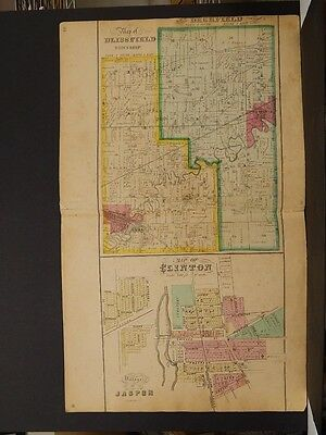 Michigan, Lenawee County Map, 1874 Township of Blissfield & Deerfield K3#41