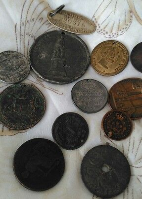Small collection of old Tokens, Medallions&Medals