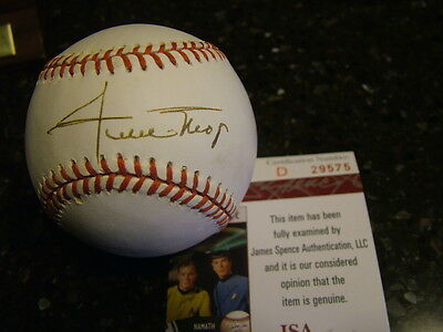 Willie Mays Autograph Signed National League Baseball JSA Authentication