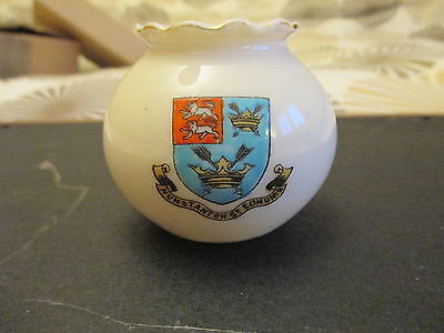 alexandra crested china with hunstanton st edmunis crest