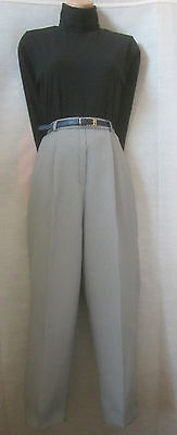 Vintage 1980's Dogtooth Check High Waist Tapered  Mom Trousers 10 12