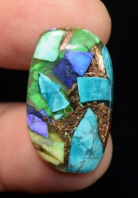 14.60  Cts.  Natural  Colorful  Copper  Howlite  Fancy  Cab Loose  Gemstones