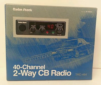 Radio Shack 40 Channel 2 Way CB Radio With Mic TRC-464 Talk NEW, NEVER USED