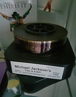 Michael jackson This is it 35mm cine hot rare film very doll pepsi figure statue