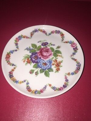 Kaiser 4 Inch Porcelain Plate With Floral Pattern West Germany