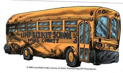 Vintage New Old Stock Limp Bizkit School Bus Duval County Window Sticker