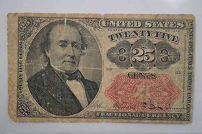 19th Century Twenty Five Cents Fractional Currency, Fifth Issue FR1309 *P89