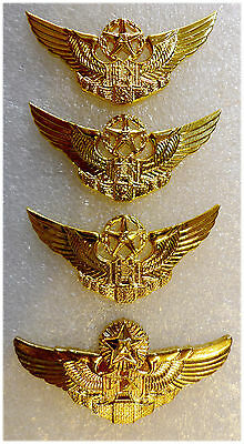China People's Liberation Army Air Force (PLAAF) Pilot Wings of All Four Classes