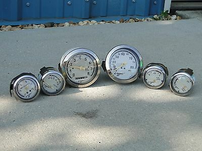 Set Livorsi II Tachometer Speedometer Water Pressure Fuel Trim Gauges