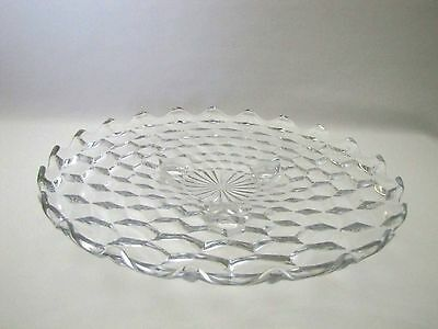 Fostoria American Glass Footed Cake Plate Stand Clear Vintage
