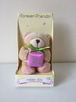 Forever Friends Happy 21st Teddy Ornament