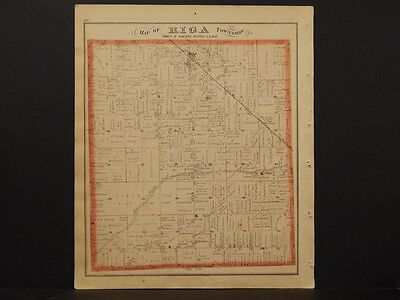 Michigan, Lenawee County Map, 1874 Township of Riga Double Sided K3#48