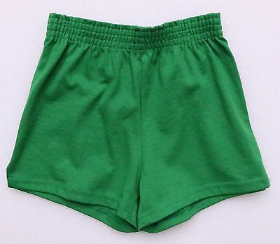 Soffe Youth Green Elastic Waist Athletic Shorts