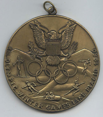 Orig.remembrance medal   Olympic Winter Games LAKE PLACID (USA) 1980  !!  RARE