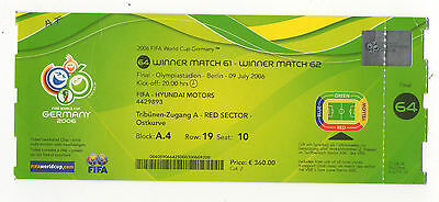 Orig.Ticket   World Cup Germany 2006   FINAL   ITALY - FRANCE  !!  EXTREM RARE