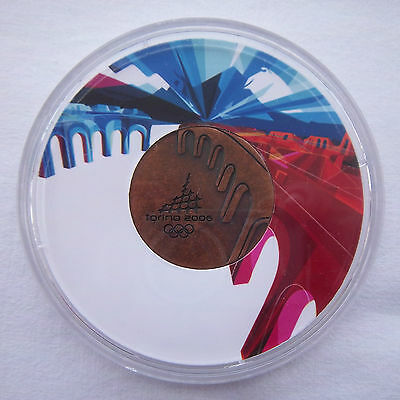 Orig.participant medal   Olympic W.Games TURIN 2006  //  in Box  !!  EXTREM RARE