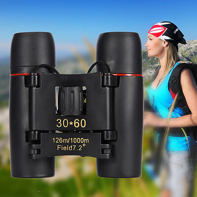 Day & Night Vision Binoculars 30 x 60 Zoom Outdoor Travel Folding Telescope Bag