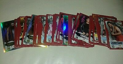 100 x Topps WWE Slam Attax Takeover trading cards. Mixed lot
