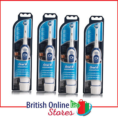 4 x Oral-B Advance Power 400 DB4010 Battery Powered Electric Toothbrush Advanced