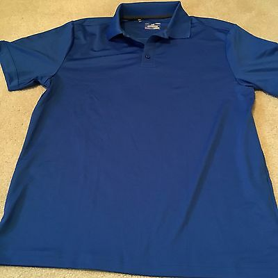 Mens Under Armour Blue Polo Shirt, Large Size, Worn Once