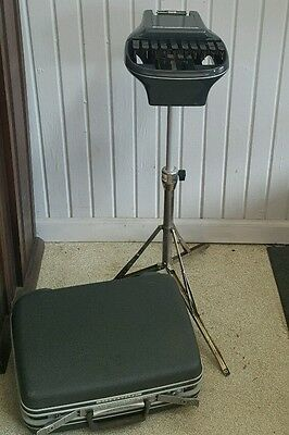 Stenograph Reporter Shorthand Machine With Hard Shell Samsonite Case Ink & Paper