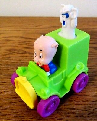 Porky Pig - in Porky's Ghost Catchers Cake Topper/Push Toy