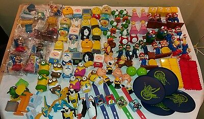 joblot happy meal toys.  Mario, angry birds, minions, plus more