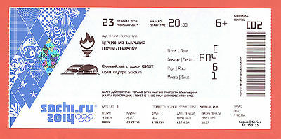 Orig.Ticket  Olympic W.Games SOCHI 2014 - CLOSING CEREMONY  !!  VERY RARE