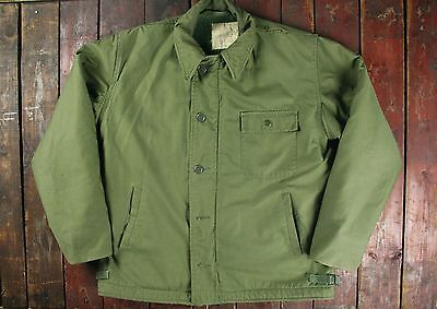 VTG 60s VIETNAM US NAVY A-2 COLD WEATHER INTERMEDIATE DECK JACKET 42-44 LARGE