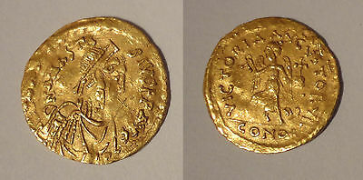 Anastasius I Tremissis or gold - Constantinople - double frappe rare mint error