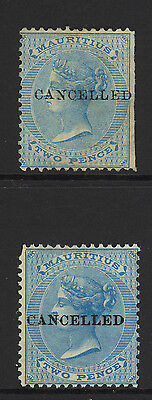 """Mauritius, Mint, 33 (2), """"canceled"""" Overprints, Nicely Centered"""