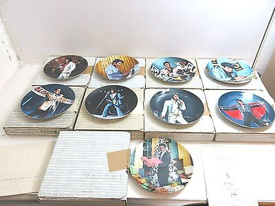 Lot Of 9 Elvis Plates With Boxes And Coa By Delphi / Bradex