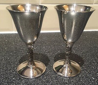 2 X Valero Silver Plated Goblets / Cups
