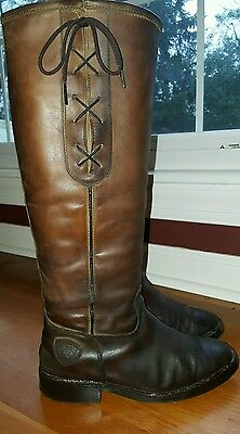 Ariat tall boots 7.5 all brown leather, boot trees included.