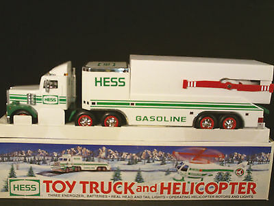 HESS 1995 Toy Truck with Helicopter & Original Box