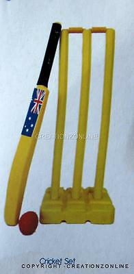 Crane  Beach Cricket Set Brand New  Size 5  Bat Ball Stumps Carry Bag Aus Flag