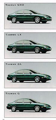 1997 Ford TAURUS Brochure / Catalog with Color Chart: SHO,LX,GL,G.........NOS