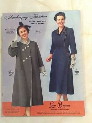 """1952 1953 Lane Bryant Catalog """"Everything for Stout Women"""" and free shipping"""