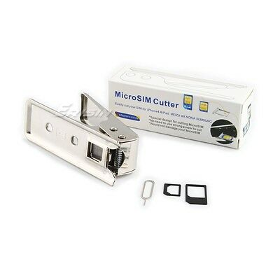 iP012CH Micro SIM Card Cutter tool with 2 Adaptors and Needle for iPhone 4 iPAD