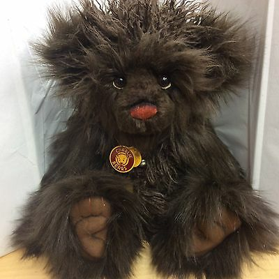 Charlie Bears Valentino  20 Inch Plush Jointed Bear Brand New With Tags
