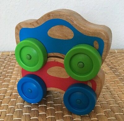 Melissa & Doug Wooden Stacking Cars Classic Toys Baby Replacement Set Of 2 EUC!