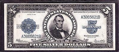 "US 1923 $5 ""Porthole"" Silver Certificate FR 282  VF (621)"