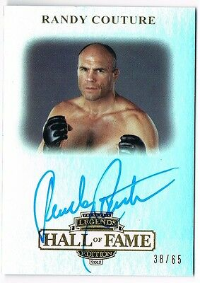 2012 Press Pass Legends Hall Of Fame Gold Autograph #lg-Rc Randy Couture /65 *44