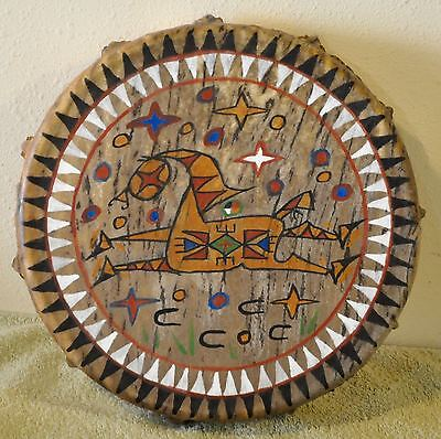 Spirit Horse /Native American Drum Painted by Lakota Artist Sonja Holy Eagle